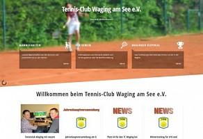Internetauftritt: Tennisclub Waging am See