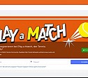 Internetauftritt: Soziales Netzwerk Play a Match